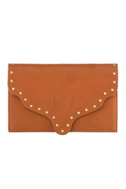 Shiraleah Scalloped Leather Clutch - Product Mini Image