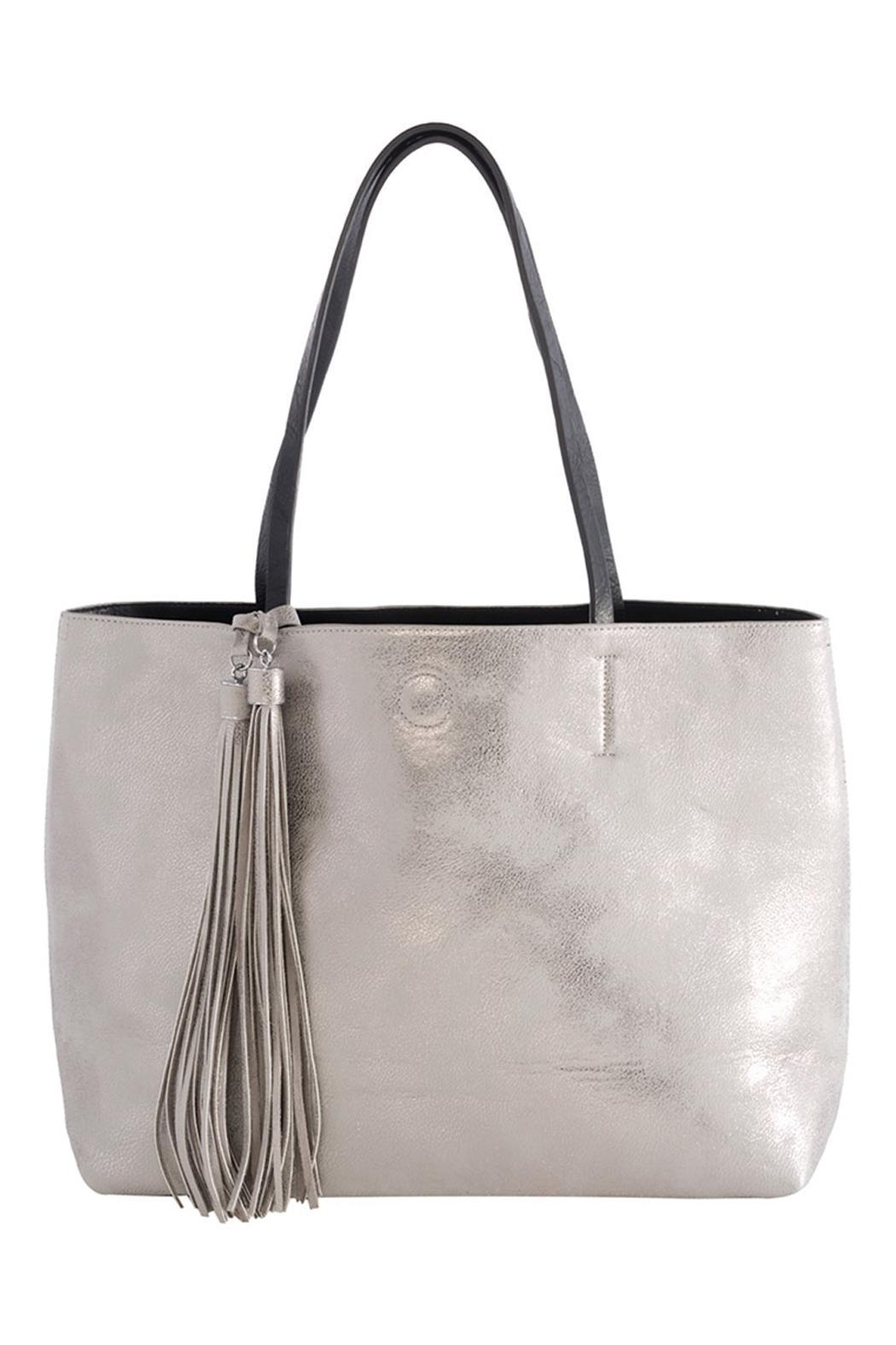 Shiraleah Vegan Leather Reversible Tote - Front Cropped Image