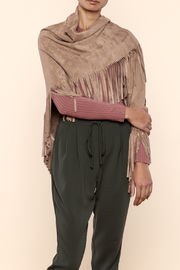 Shireen Camel Fringe Wrap - Product Mini Image