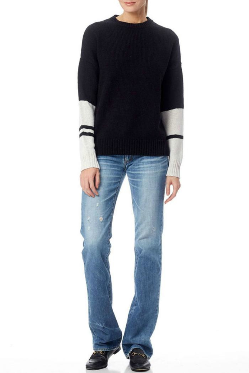 360 Cashmere Shirley Sweater - Side Cropped Image