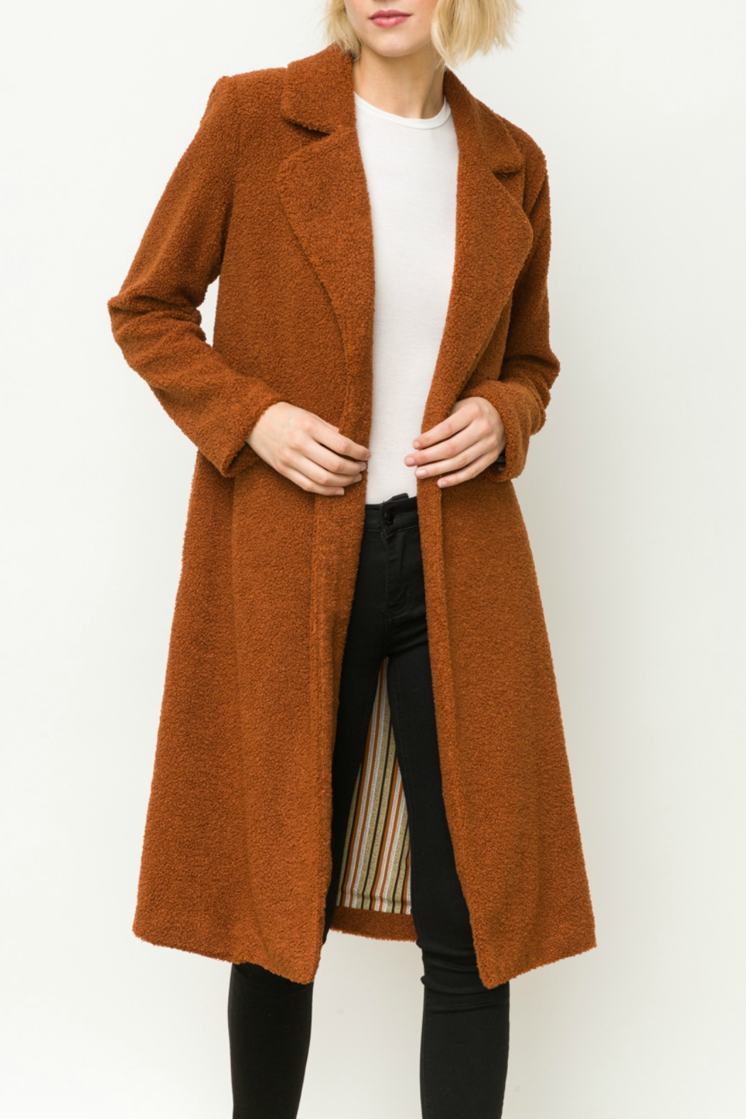 Mystree Shirling fur long coat - Front Cropped Image