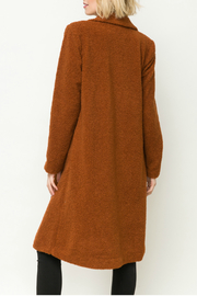 Mystree Shirling fur long coat - Side cropped