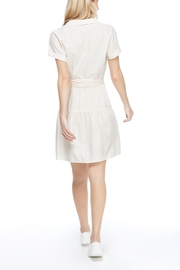 Gal Meets Glam Shirred Drindle Dress - Front full body