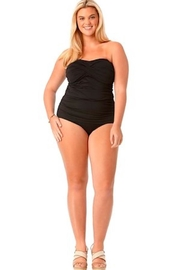 Anne Cole Signature Shirred Front Tankini - Product Mini Image
