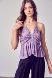 Do + Be  Shirred Halter Top - Product Mini Image