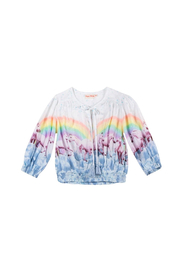 Paper Wings Shirred Peasant Top - Front cropped