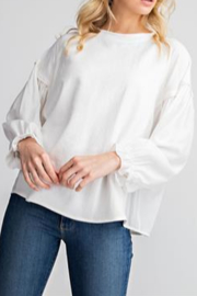 Glam Shirred Raglan Sleeve Top - Product Mini Image