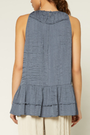 Current Air  Shirred Round Neck Halter Top - Front full body
