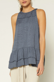 Current Air  Shirred Round Neck Halter Top - Product Mini Image