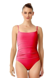 Anne Cole Shirred Side Maillot - Product Mini Image