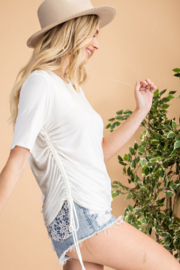 143 Story Shirred Side Tee - Front cropped