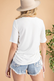 143 Story Shirred Side Tee - Side cropped