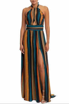 luxxel Shirred Stripe Maxi - Product List Image