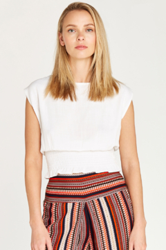Apricot Shirred Waist Crop Top - Product List Image