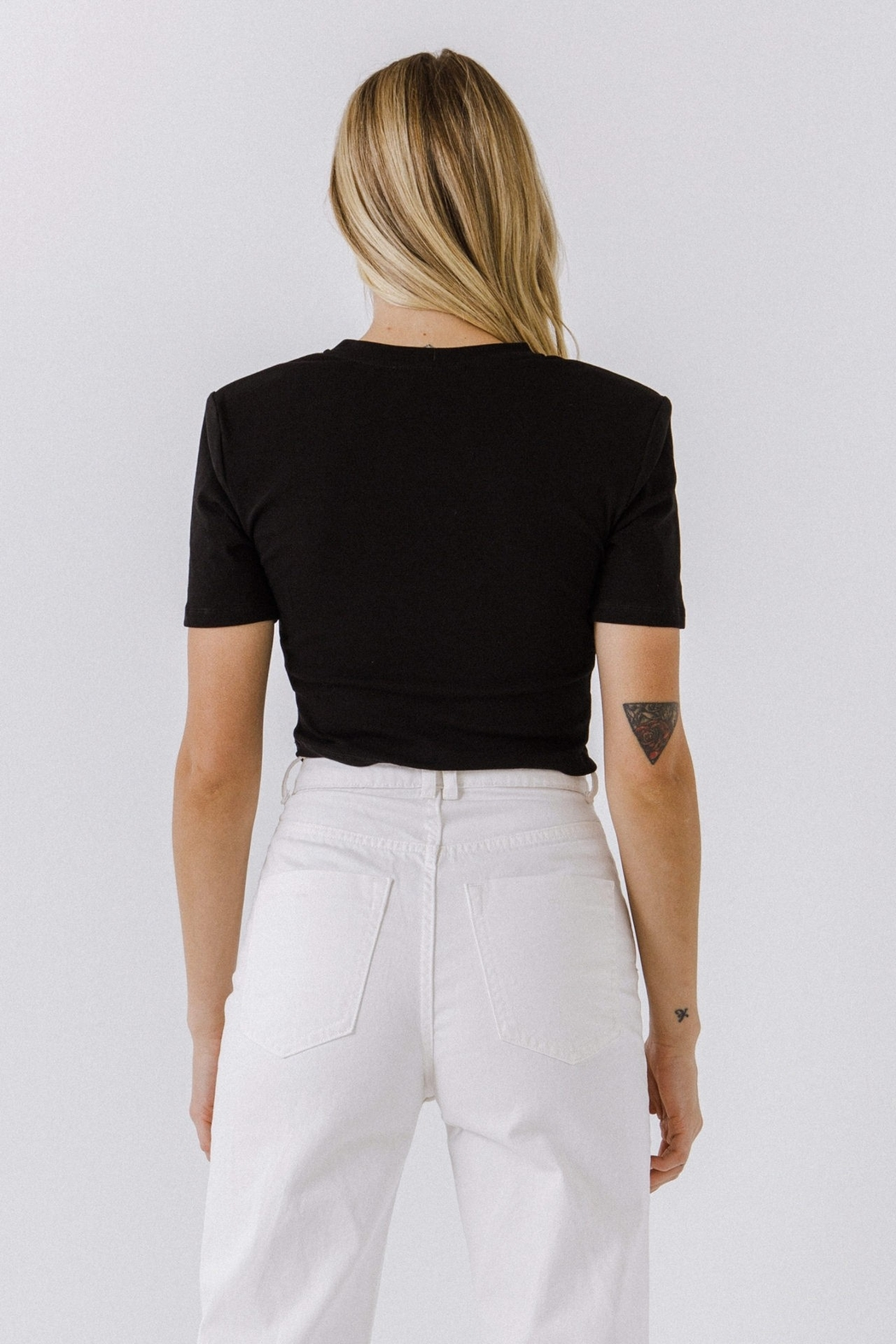 2.7 August Apparel  Shirring Detail Top - Side Cropped Image