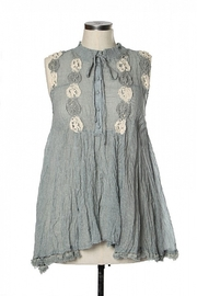 Ryu Shirring Embroidered Tunic - Front cropped