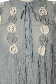Ryu Shirring Embroidered Tunic - Side cropped