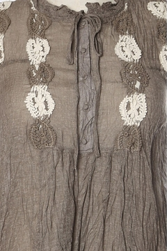 Ryu Shirring Embroidered Tunic Top - Alternate List Image