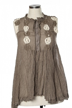 Ryu Shirring Embroidered Tunic Top - Product List Image