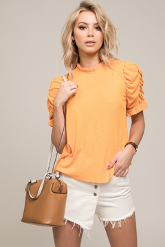 Moon River Shirring Sleeve Top - Product List Image