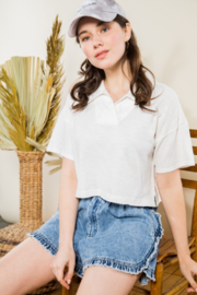 Very J  Shirt Collar Tee - Front cropped