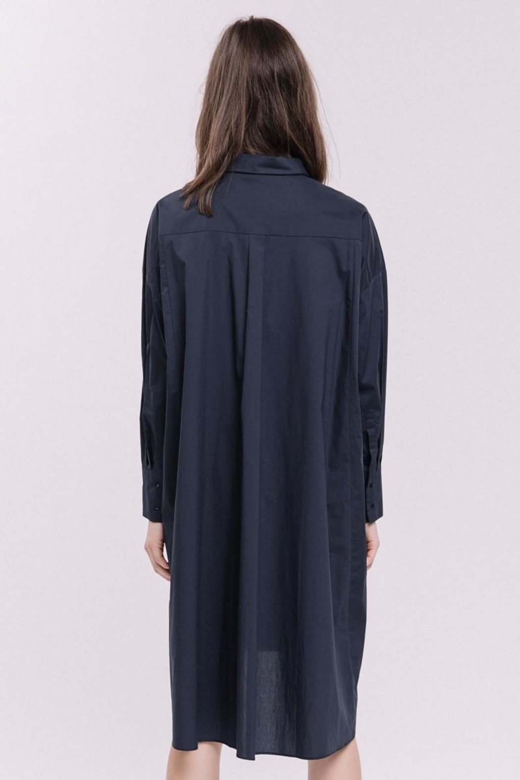 English Factory Shirt Dress - Back Cropped Image