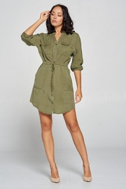 Cest Toi Shirt Dress - Front cropped