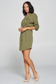 Cest Toi Shirt Dress - Side cropped