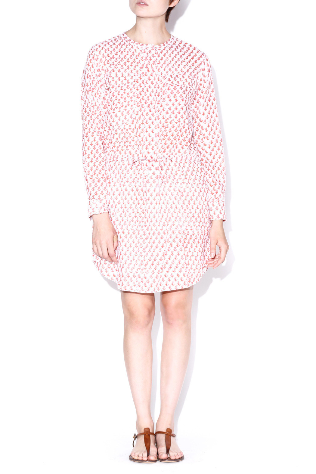 Kerry Cassill Shirt Dress - Front Cropped Image