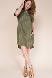 Ivy Jane  Shirt Dress with Pocket Detail - Front full body