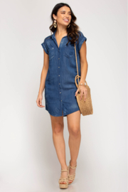 She and Sky SHIRT DRESS WITH POCKETS - Other