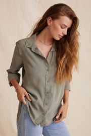 Bella Dahl  Shirt Tail Button Down - Product Mini Image