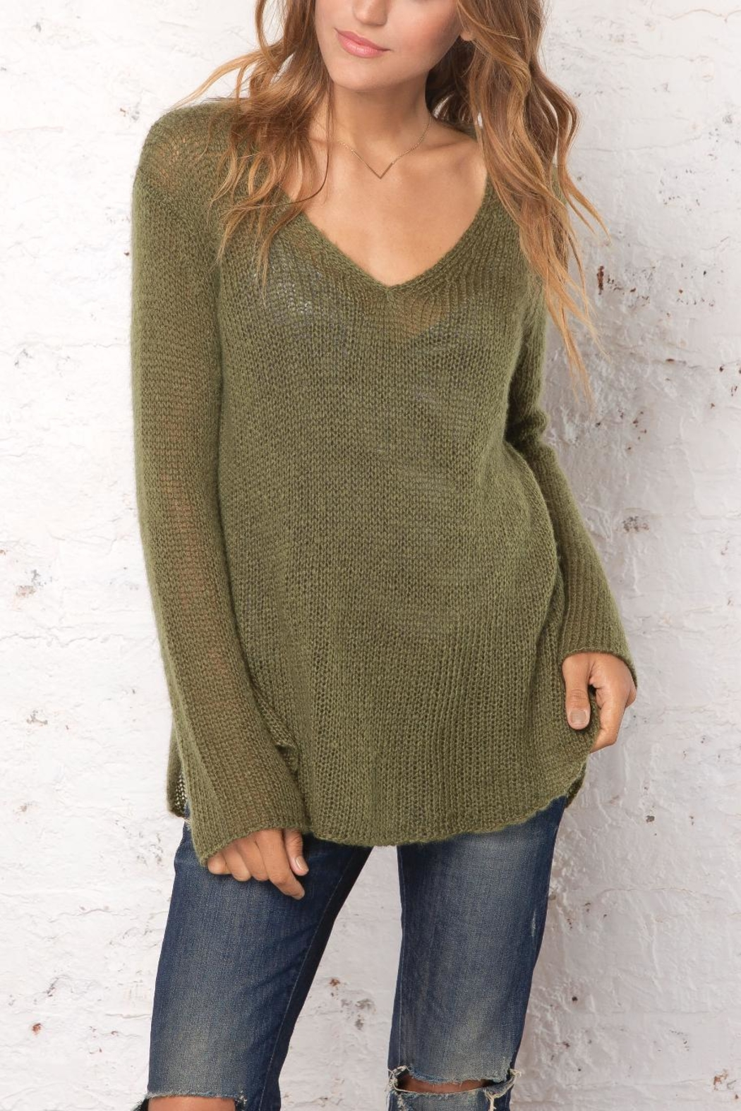 Wooden Ships Shirt-Tails V-Neck Sweater - Main Image