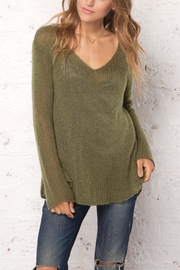 Wooden Ships Shirt-Tails V-Neck Sweater - Front cropped