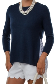 Cortland Park Cashmere Shirtback Sweater - Front cropped