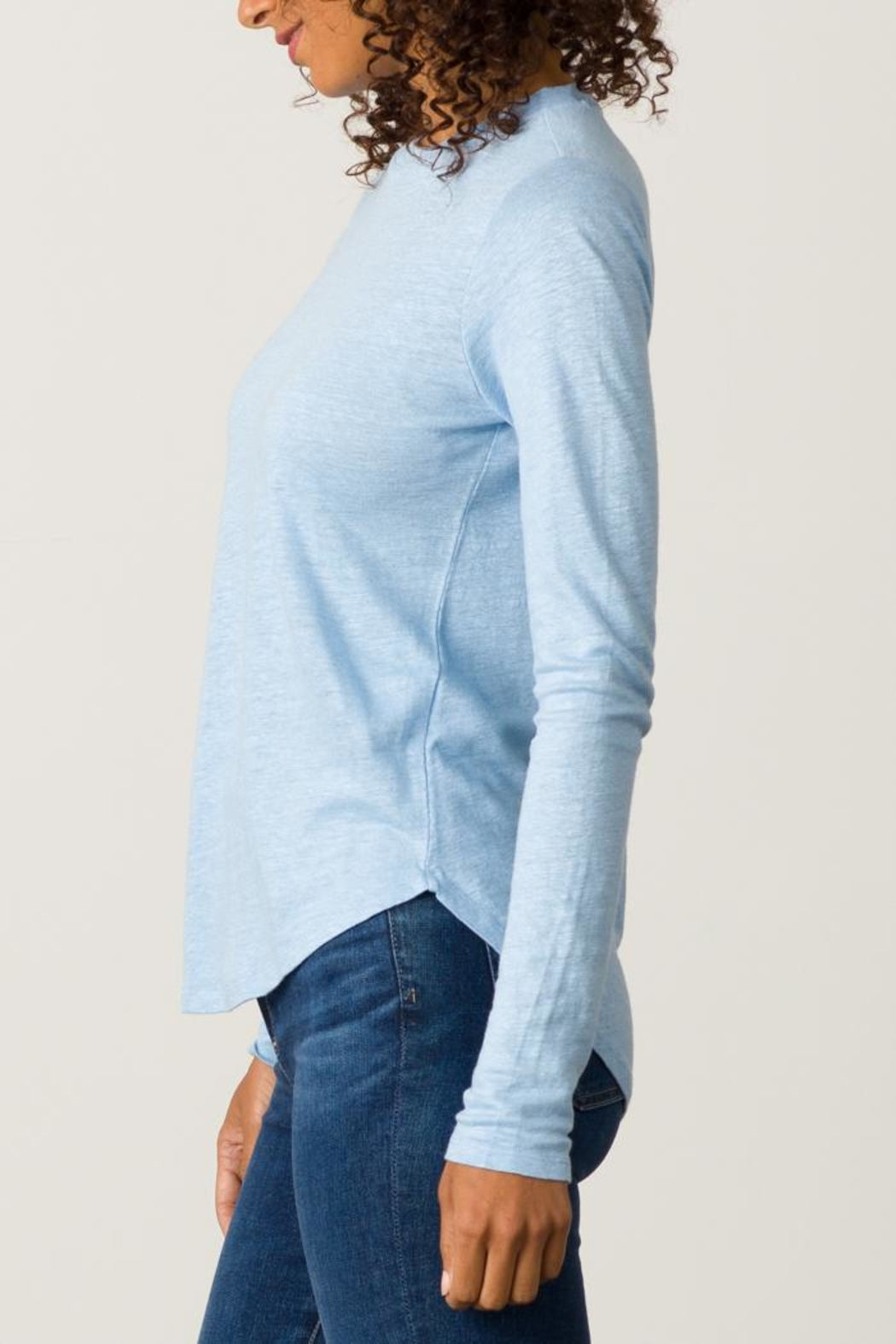 Margaret O'Leary Shirttail Tee - Front Full Image