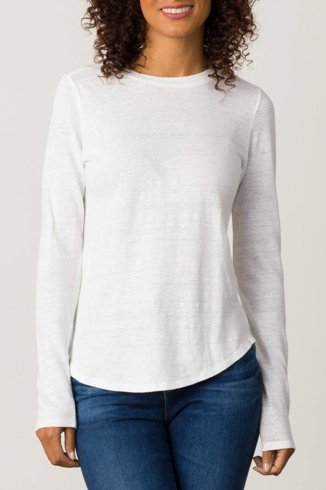 Margaret O'Leary Shirttail Tee - Front Cropped Image
