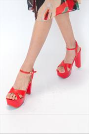 Shoe Republica Red High Heels - Product Mini Image