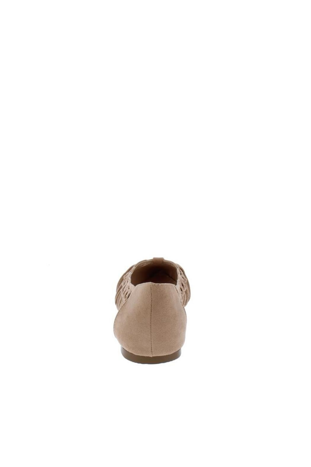 Shoe Republica Woven Taupe Flat - Side Cropped Image