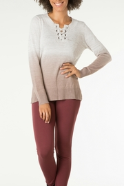 Yest Shoelace Ombre Sweater - Product Mini Image