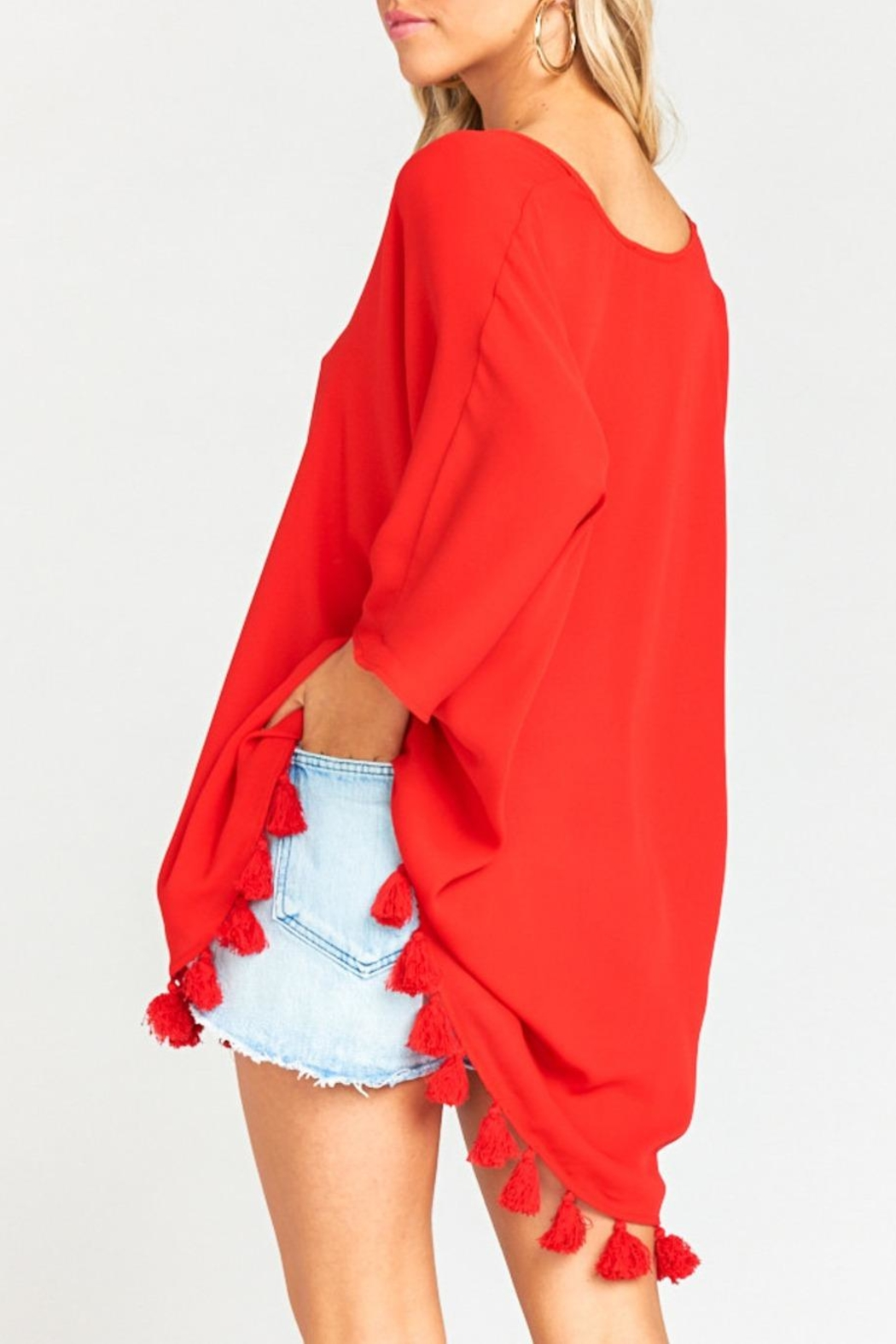 Show Me Your Mumu Shook Tassel Tunic - Back Cropped Image