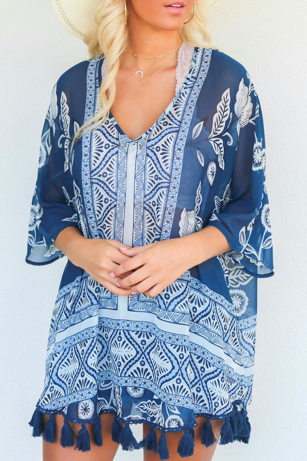 Show Me Your Mumu Shook Tassel Tunic - Front Cropped Image