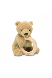 Jellycat Shooshu Bear Wooden Ring - Front cropped