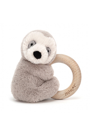 Jellycat Shooshu Sloth Wooden Ring Toy - Product Mini Image