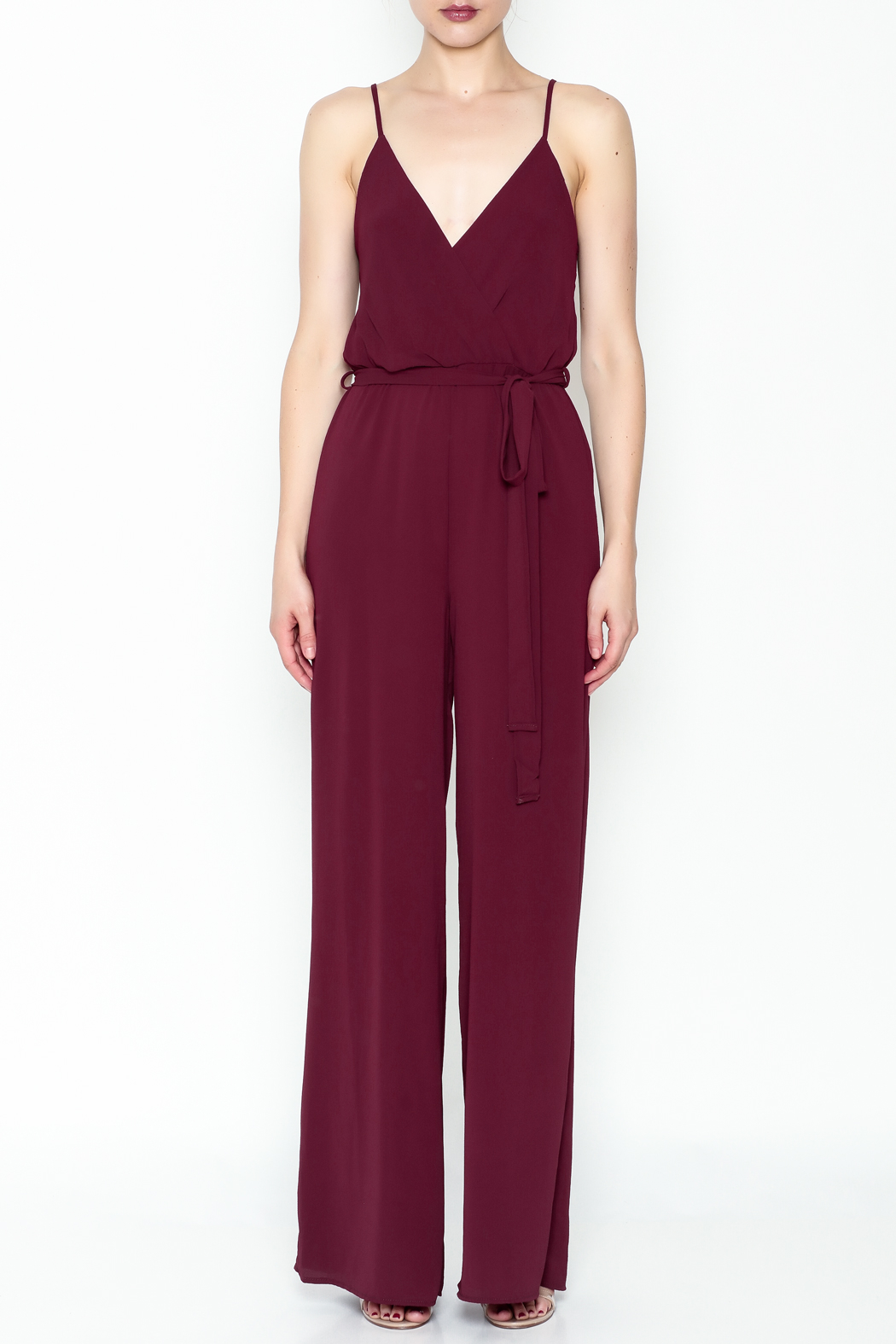 shop 17 Spaghetti Strap Jumpsuit - Front Full Image