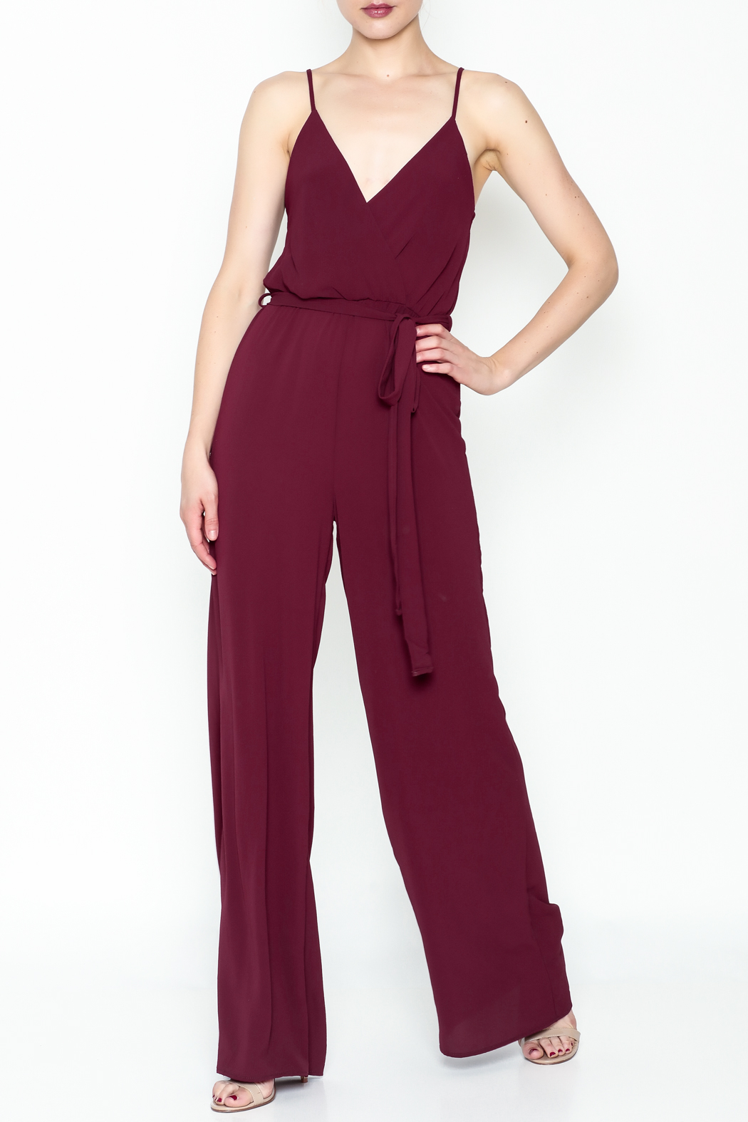 shop 17 Spaghetti Strap Jumpsuit - Front Cropped Image