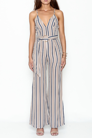 shop 17 Stripe Jumpsuit - Front full body