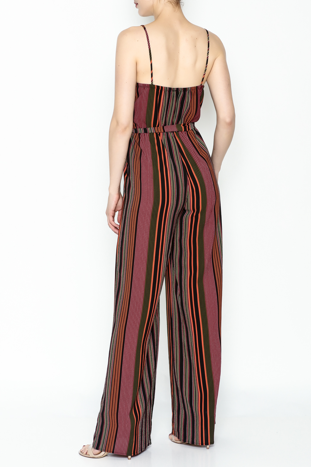 shop 17 Stripe Jumpsuit - Back Cropped Image