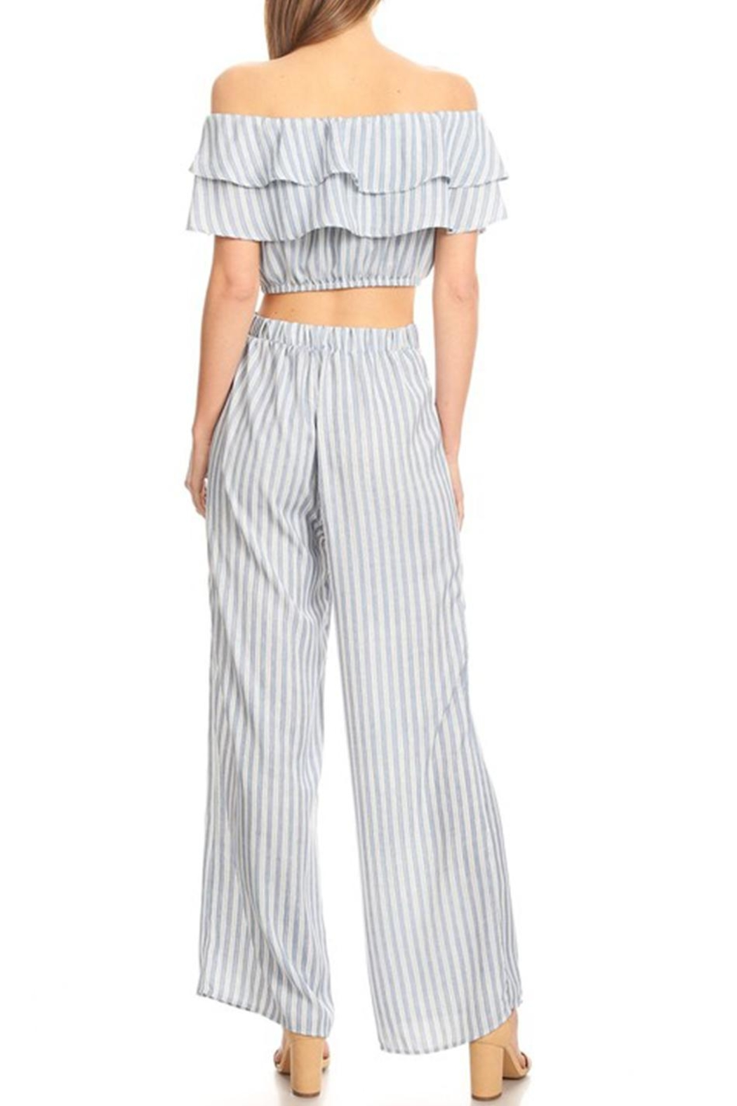 shop 17 Stripe Ots Set - Back Cropped Image