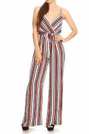 shop 17 Stripe Spaghetti Strap Jumpsuit - Product Mini Image